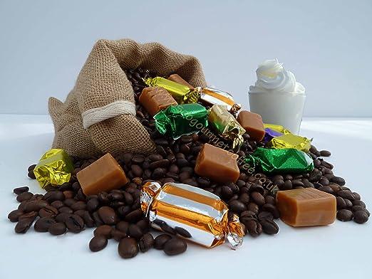 Inglés descafeinado café con sabor a caramelo, Cafetera de émbolo ...