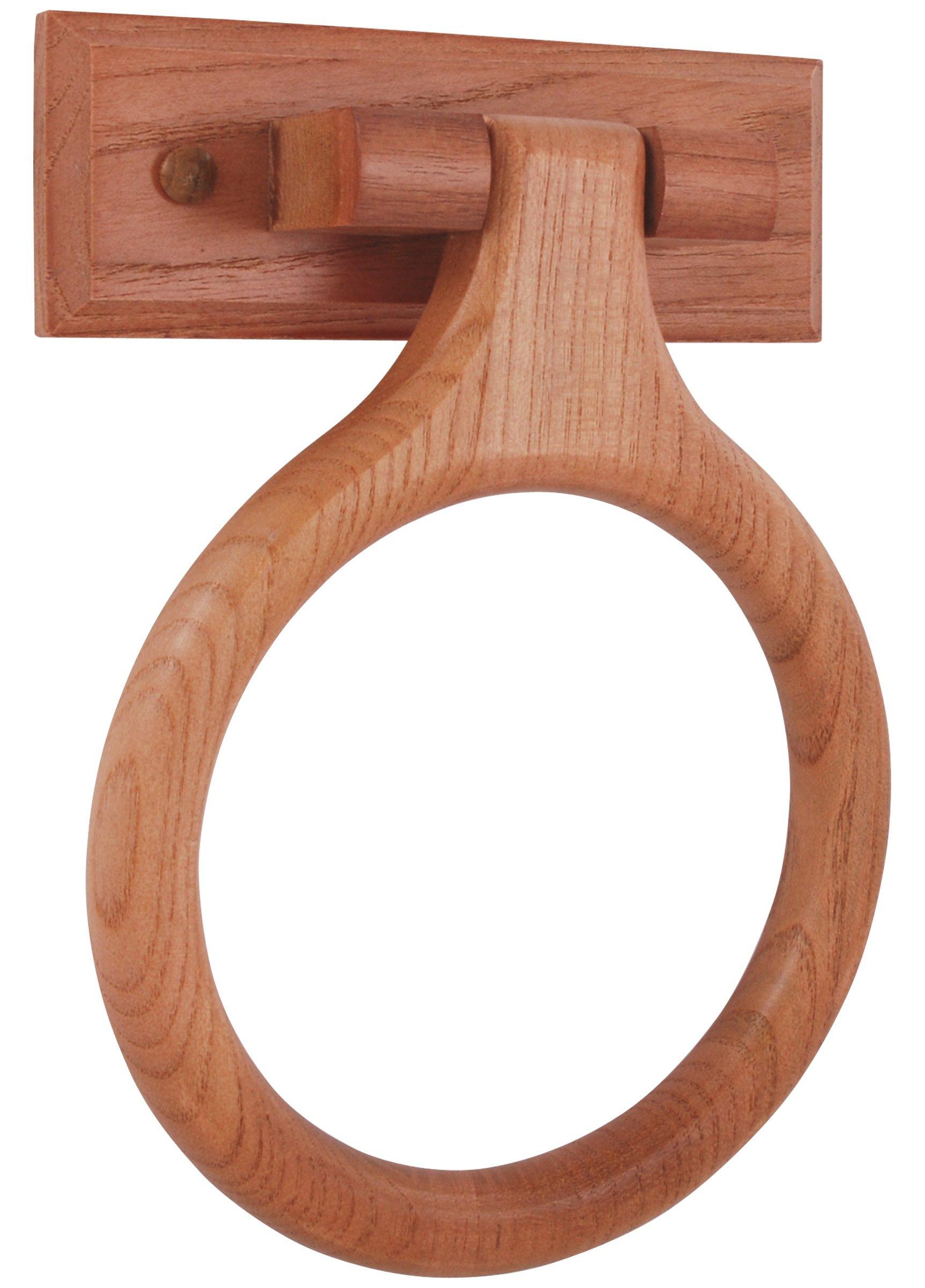 LDR 165 9840CP Rustic Oak Towel Ring