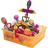 B.Toys 比乐 布莱斯特鬃毛积木 多彩触感手抓 75粒套装 带收纳盒 智力发展 感官训练  婴幼儿童益智玩具 礼物  2岁+ BX1040Z