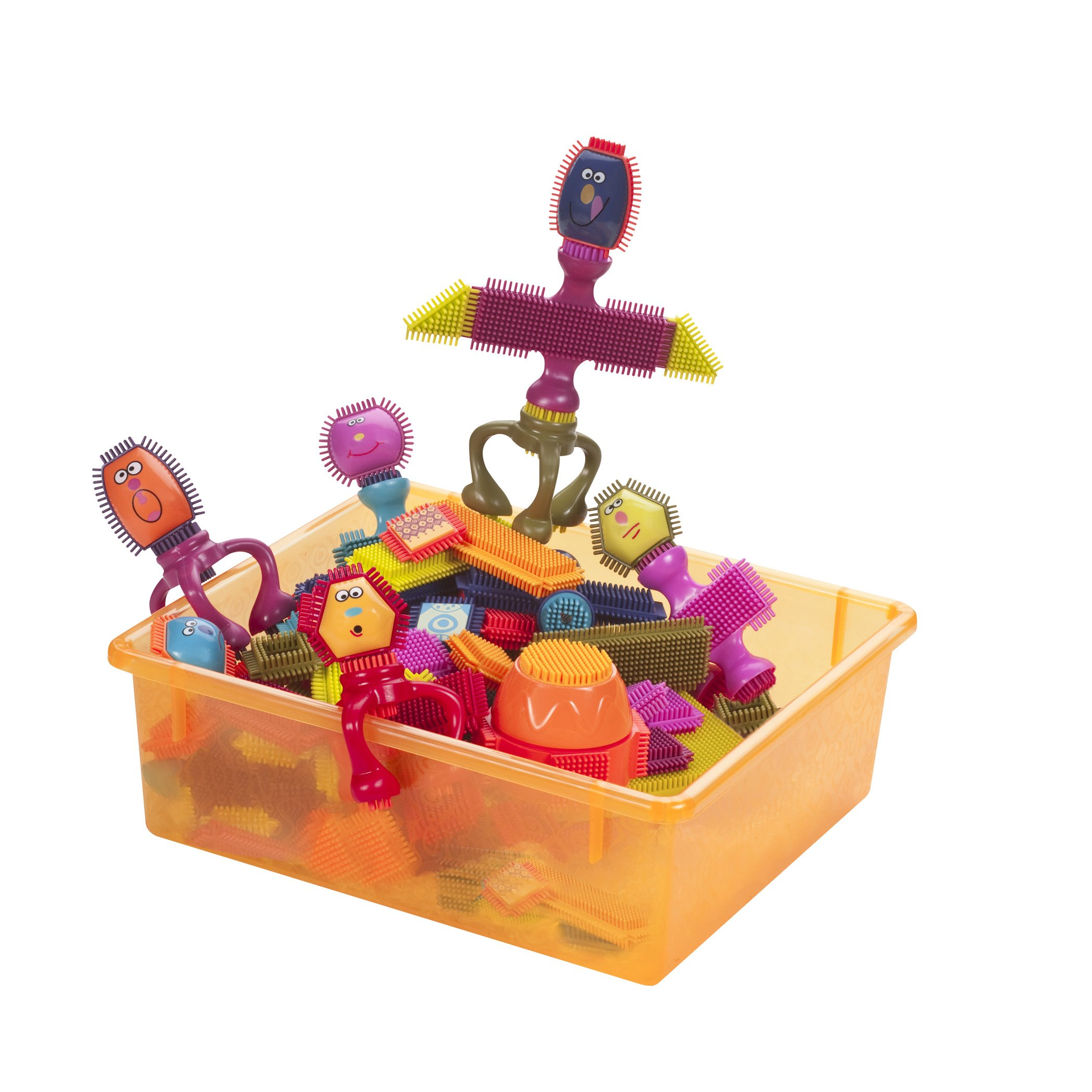 B Toys By Battat Bristle Block Spinaroos The Official Bristle