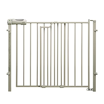 Security Gate 30 in H Steel Auto-Close Pressure-Mounted with Lock Indicator