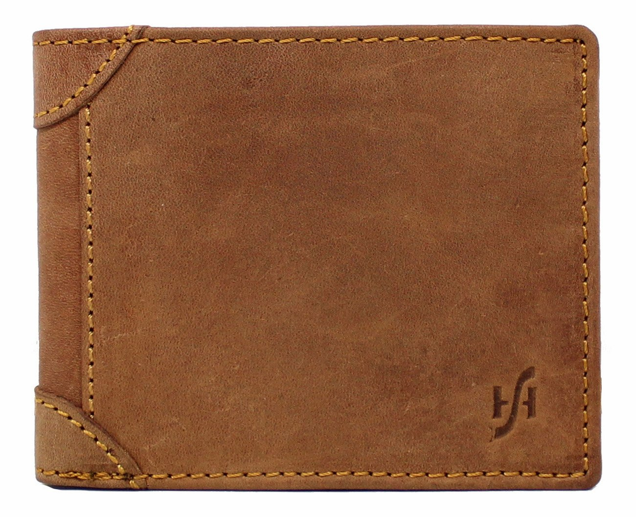 StarHide Mens RFID Blocking Leather Wallet Cards, Photo, Id, Cash - 1145 (Brown)
