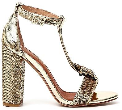 Café Noir A T SANDAL DE FLEURS 377 PLATINO - Chaussures Sandale Femme