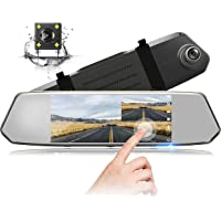 1080P Dual Lens Mirror Dash CAM 7 Inch