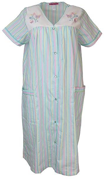 5 More Minutes Women\'s Plus Size Cotton Blend Snap Front House Dress with  Pcokets