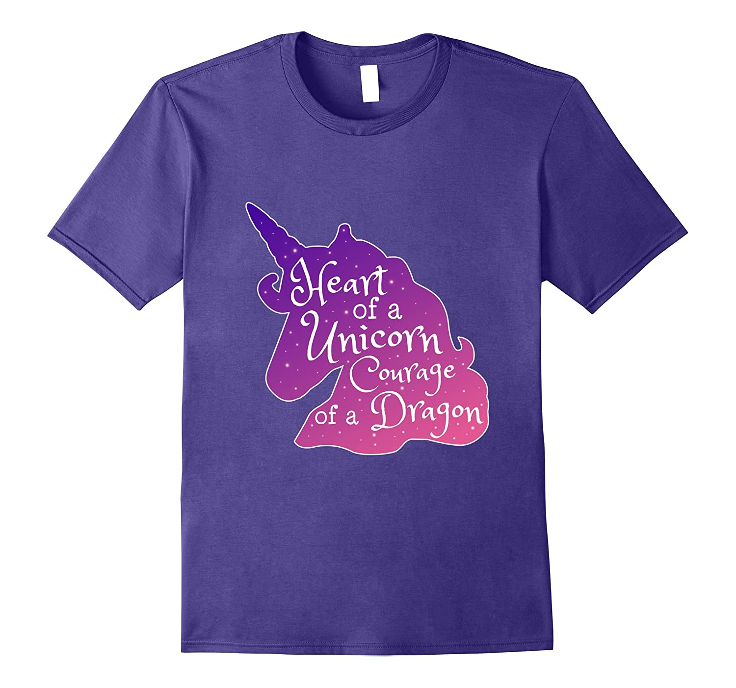 Heart of a Unicorn Courage of a Dragon T Shirt-FL