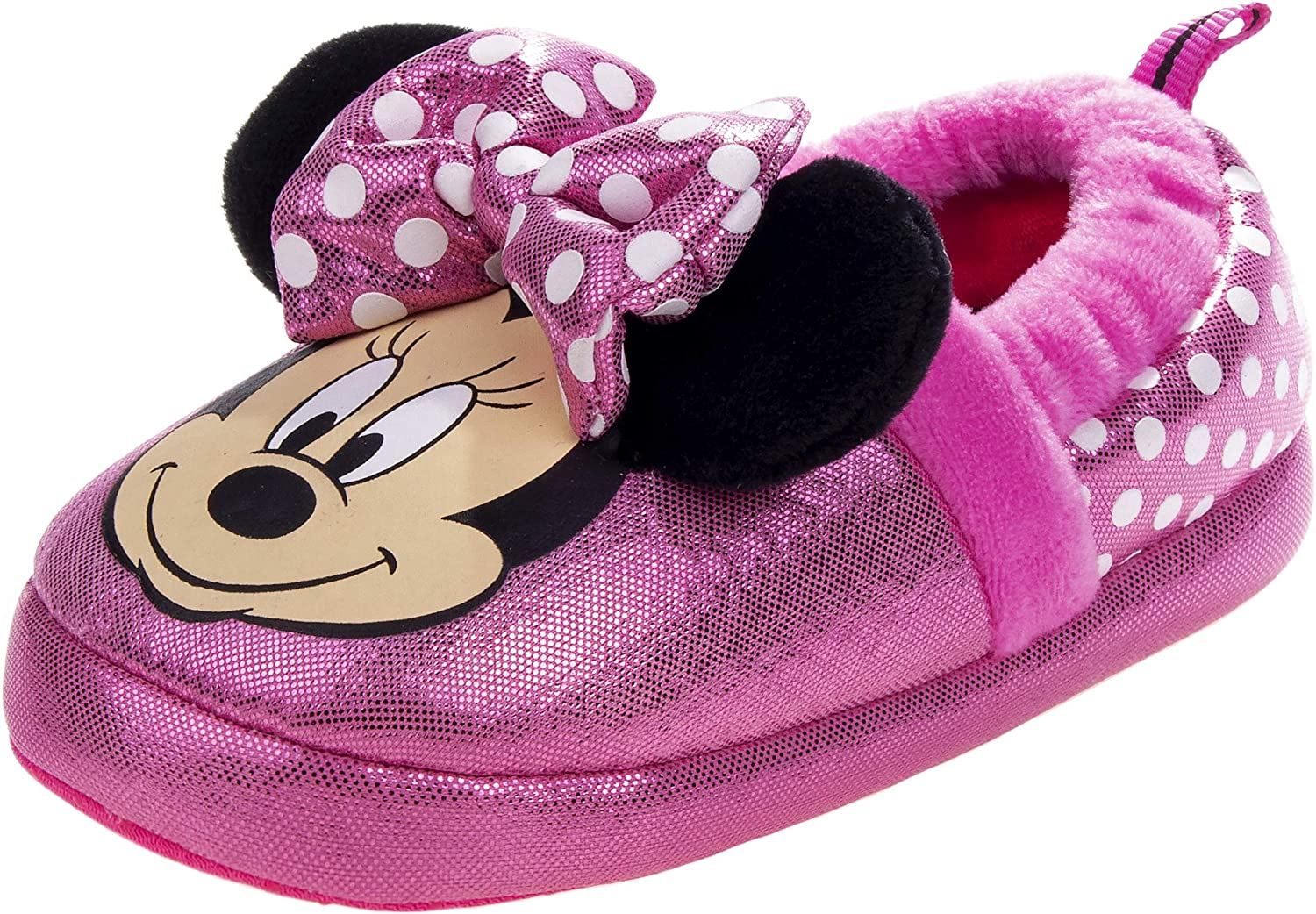 Vanilla Underground Disney Minnie Mouse Girls Pink Polyester House Slippers