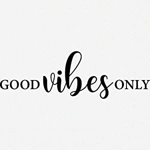 My Vinyl Story Good Vibes Only Inspirational Wall Decal Motivational Office Decor Quote Inspired Motivated Positive Focused Wall Art Vinyl Wall Decal School Classroom Words and Saying 32x10 in