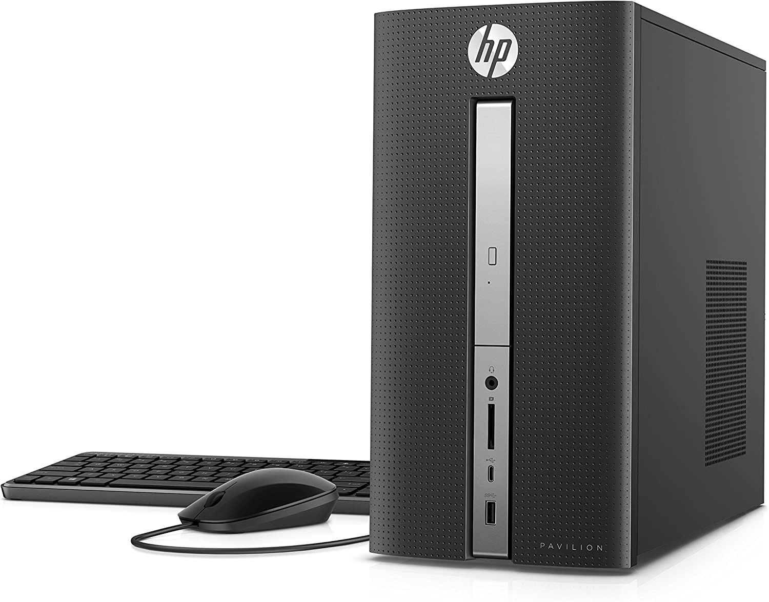 HP Pavilion Desktop Computer, Intel Core i5-7400, 8GB RAM, 1TB Hard Drive, Windows 10 (570-p020, Black)