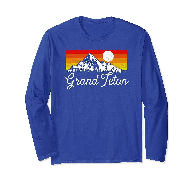 Grand Teton National Park Retro Long Sleeve Shirt-AZP