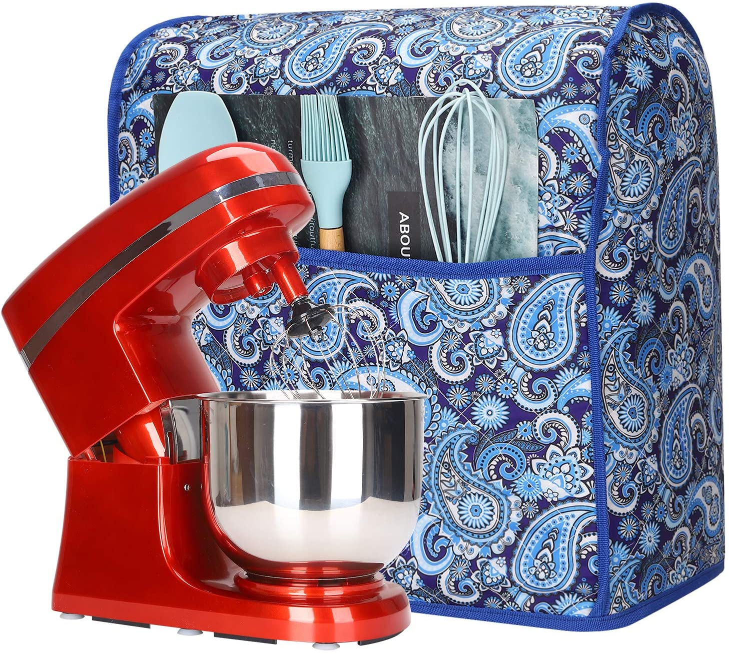 Amazon Com Kitchen Aid Mixer Cover Stand Dust For Kitchenaid Hamilton Sunbeam Mixers Small Appliances With Pockets Compatible All 6 8 Quart Tilt Head Bowl Lift Models