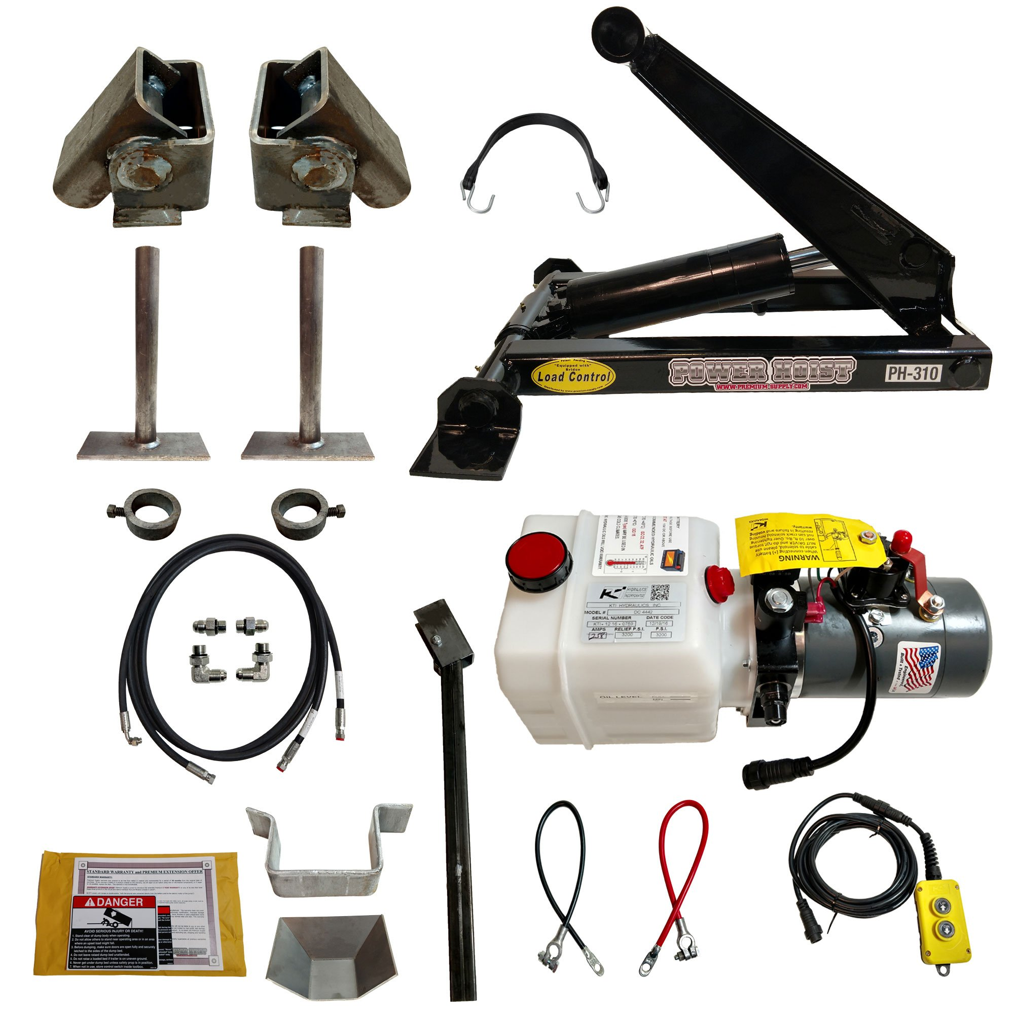 3 Ton (6,000 lb) Dump Trailer Hydraulic Scissor Hoist Kit – PH310 by Premium Supply