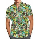 Men/'s Button Down Short Sleeve Shirt Epcot Spaceship Earth