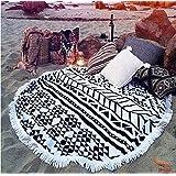 cckiise Round Mandala Tapestry Indian Wall Hanging Beach Throw Towel Yoga Mat Sunscreen Shawl wrap Skirt Tassels Cotton…