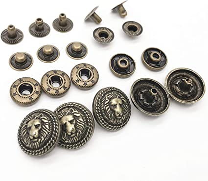 earring jewelry making studs button Cafe latte shank vintage buttons toy making sew on jacket military style buttons old retro buttons