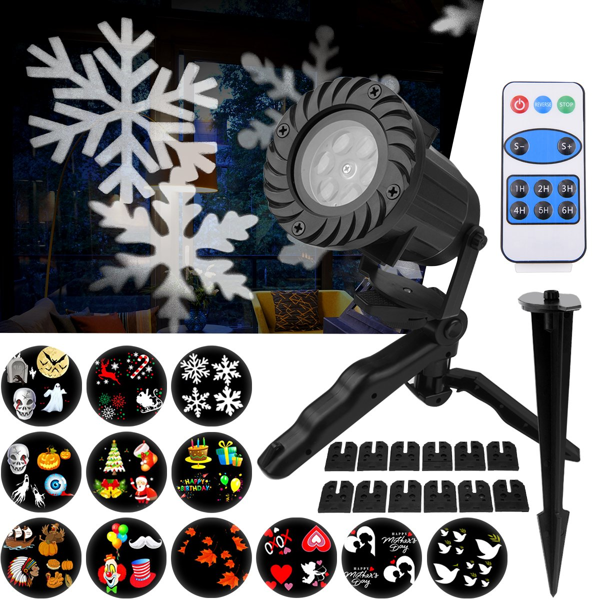 Luces de Proyector Navidad Interior y Exterior Fochea IP LED Luces Proyección