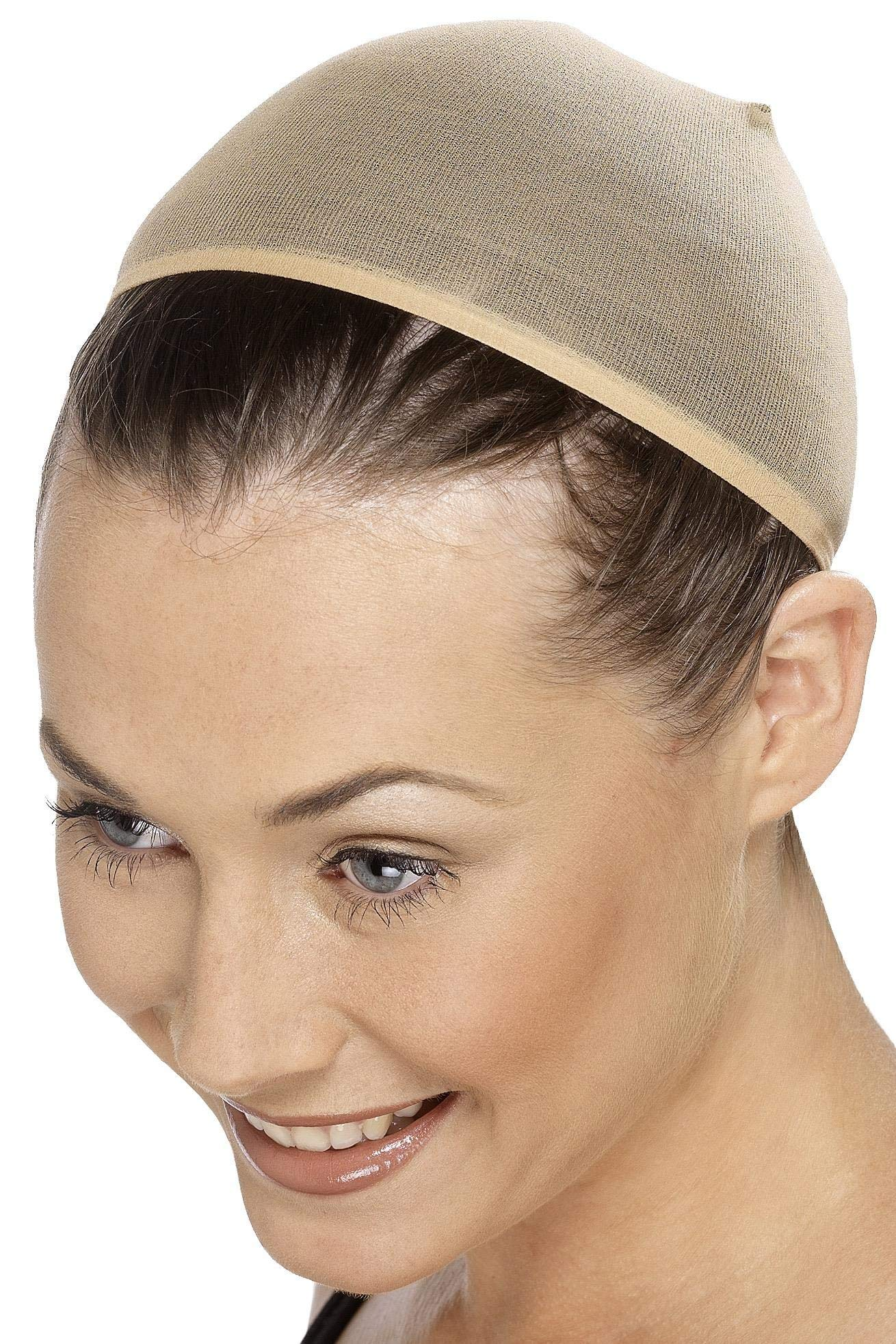 Smiffys Adult Unisex Wig Cap, Nude, One Size, 20136