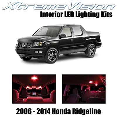 Xtremevision Interior LED for Honda Ridgeline 2006-2014 (18 Pieces) Red Interior LED Kit + Installation Tool: Automotive
