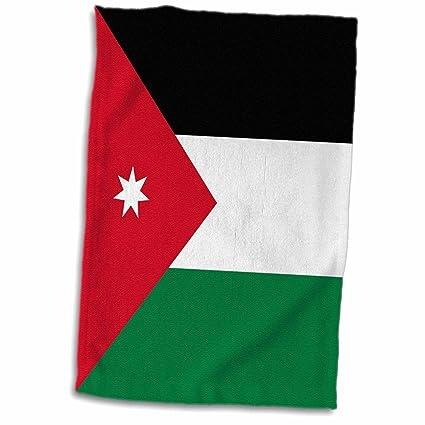 Amazon Com 3d Rose Flag Of Jordan Jordanian Red Black Green With