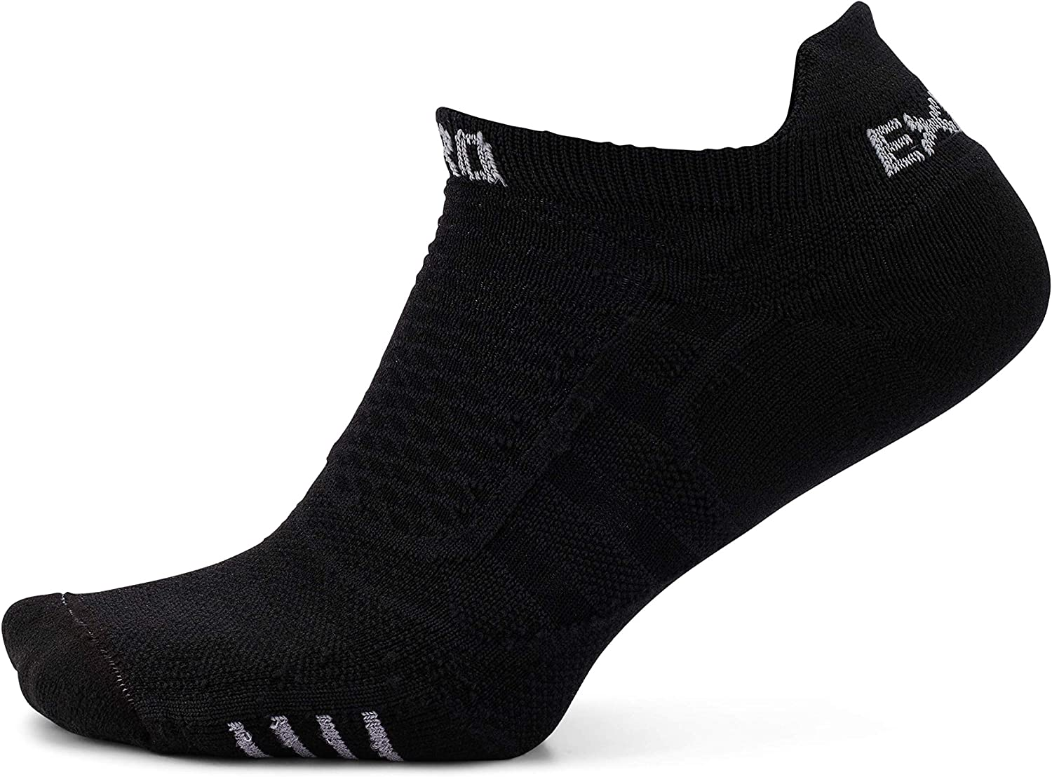 Thorlos Experia Unisex Prolite XPTU Running Ultra Thin No Show Tab Sock, Black/Black, Medium