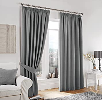LUXURY HERRINGBONE TWEED CURTAINS