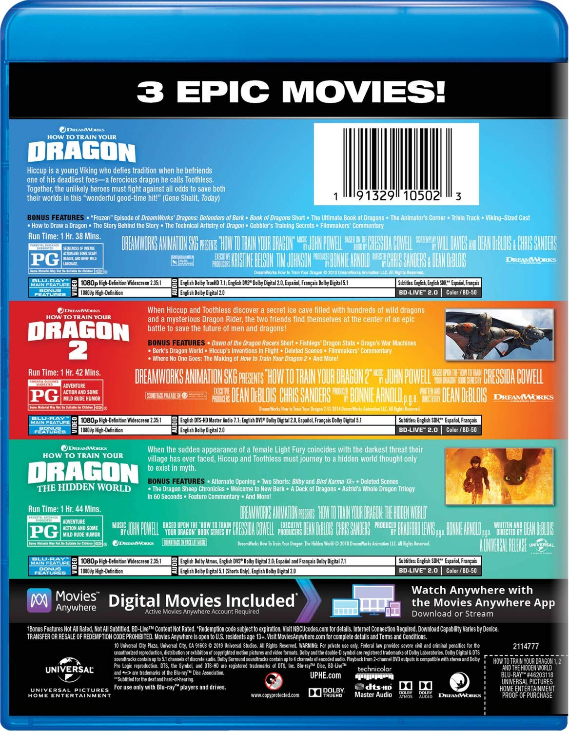 Amazoncom How To Train Your Dragon 3 Movie Collection