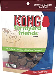 KONG - Farmyard Friends™ - All Natural Dog Treats - Smoked Bacon (Best used with KONG Classic Rubber Toys)
