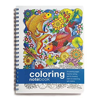 Amazon.com : Coloring NoteBook (11 x 8.5 inches) Side-bound Notebook ...