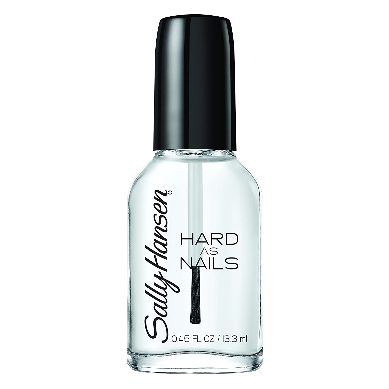 Sally Hansen Hard as Nails Nail Polish, Crystal Clear, 0.45 Fluid Ounce