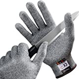 FREETOO Cut Resistant Gloves Kitchen Food Safety Gloves Level 5 Hand Protection Cut Proof Gloves (S)