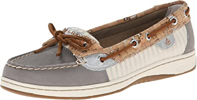 New Womens Sperry Top-Sider Bluefish Leather Boat Shoes Sand Cork SZ 6.5 M