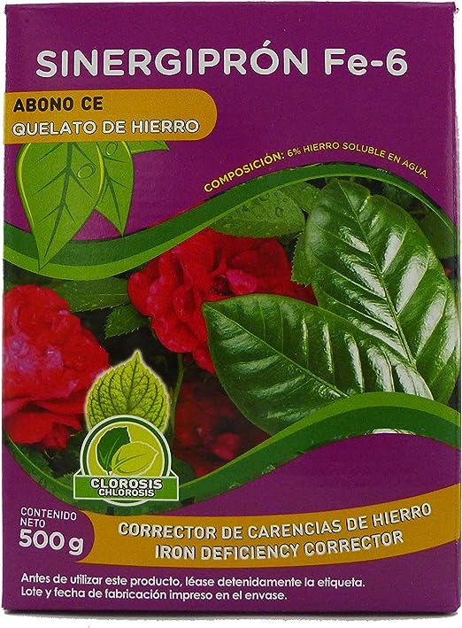 Probelte Jardín Quelato de Hierro Sinergiprón FE-6 500 g: Amazon.es: Jardín