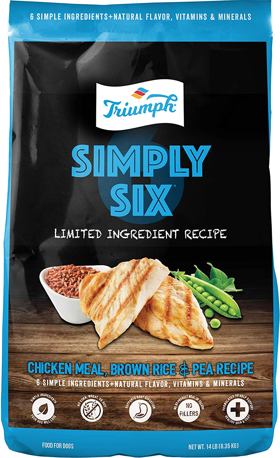 Triumph Pet Industries-Triumph Simply Six Limited Ingredient Dog Food- Chicken 3 Lb