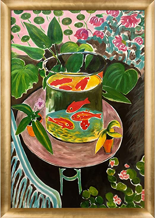 overstockArt The Green Stripe Framed Oil Reproduction of an Original Painting by Henri Matisse