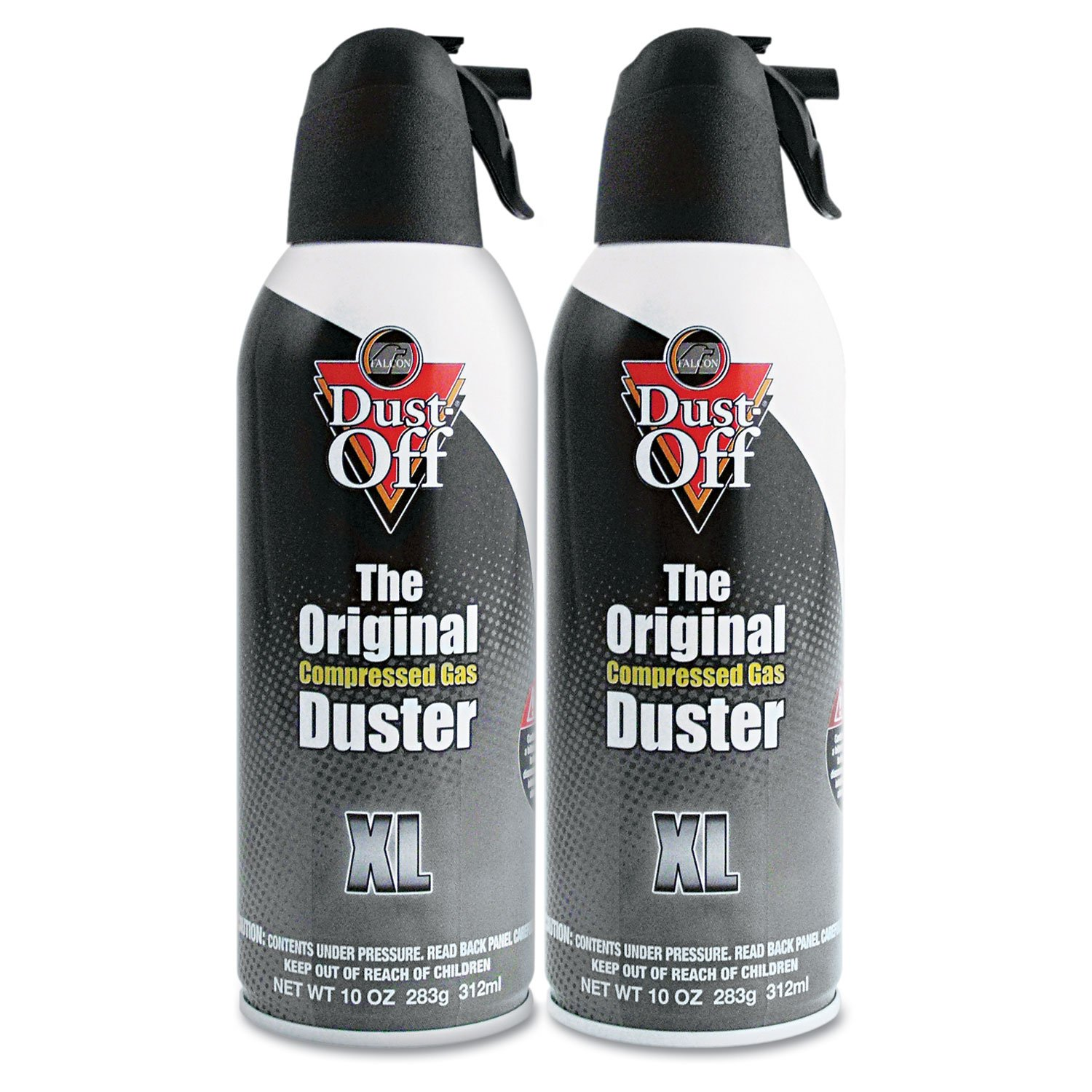 Dust-Off DSXLPW Disposable Compressed Gas Duster, 10 oz Cans, 2/Pack
