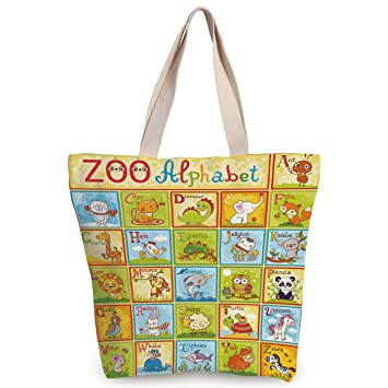 2fc131d8ee Amazon.com  iPrint Funky Canvas Tote Bag