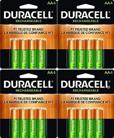 Amazon.com: 16 x Nuevo Duracell Pilas AA recargables NiMH ...