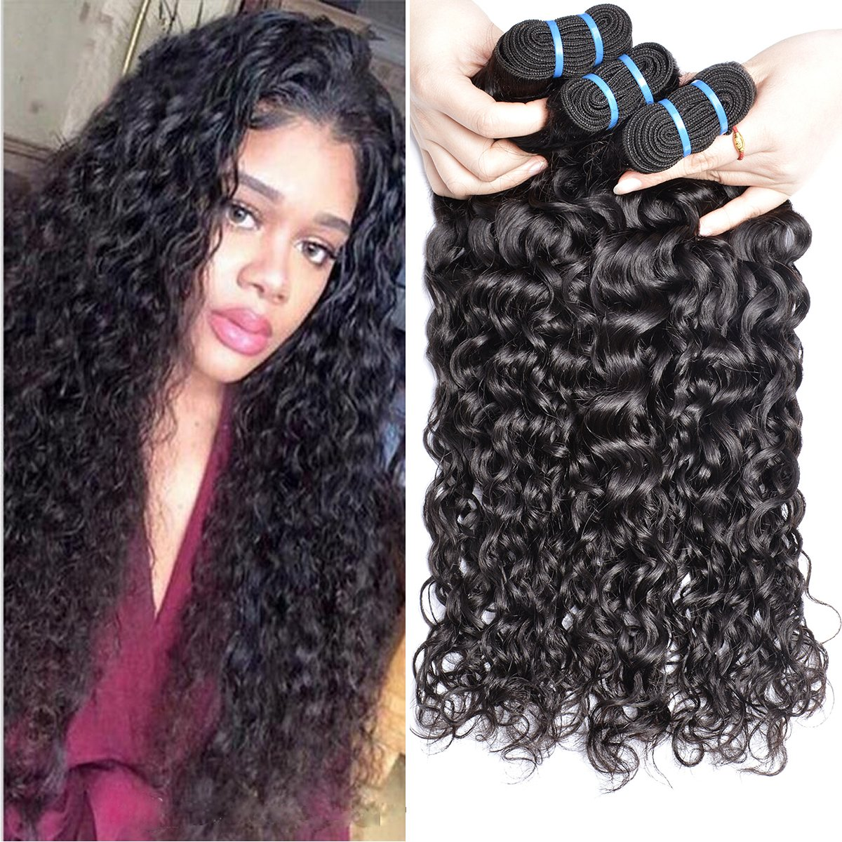 Amazon Fashion Queen Hair 4x4 Free Part Lace Closure Brazilian