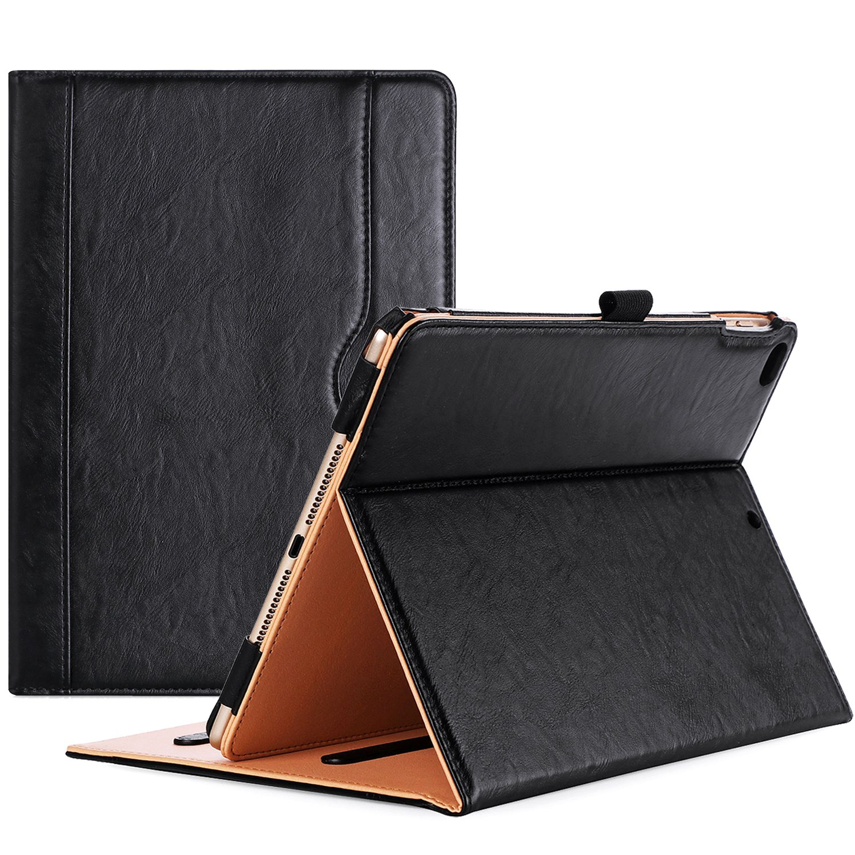 ProCase iPad 9.7 Case 2018 / 2017 iPad Case - Stand Folio Cover Case for Apple iPad 9.7 inch, Also Fit iPad Air 2 / iPad Air -Black
