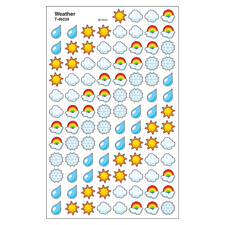 Amazon Trend Enterprises Inc Weather Supershapes Stickers