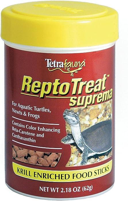 TetraFauna ReptoTreat Suprema 2.18 Ounces, Food Supplement for Aquatic Turtles, Newts and Frogs