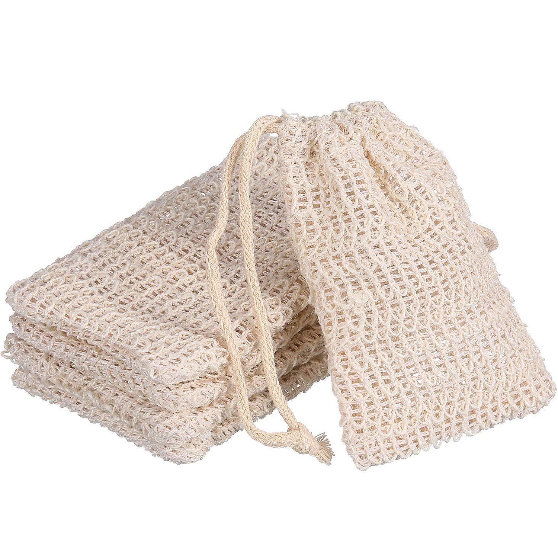 BBTO 5 Pack Soap Exfoliating Bag Natural Soap Saver