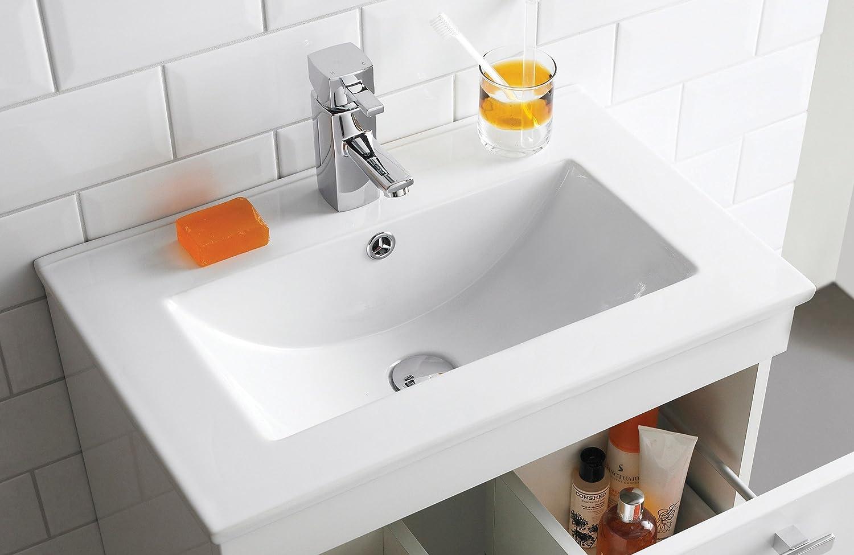 Minimalist gloss white vanity unit 600 800 or 1000mm - Veebath Sphinx Floor Standing Vanity Units Vtfw 600mm Amazon Co Uk Kitchen Home