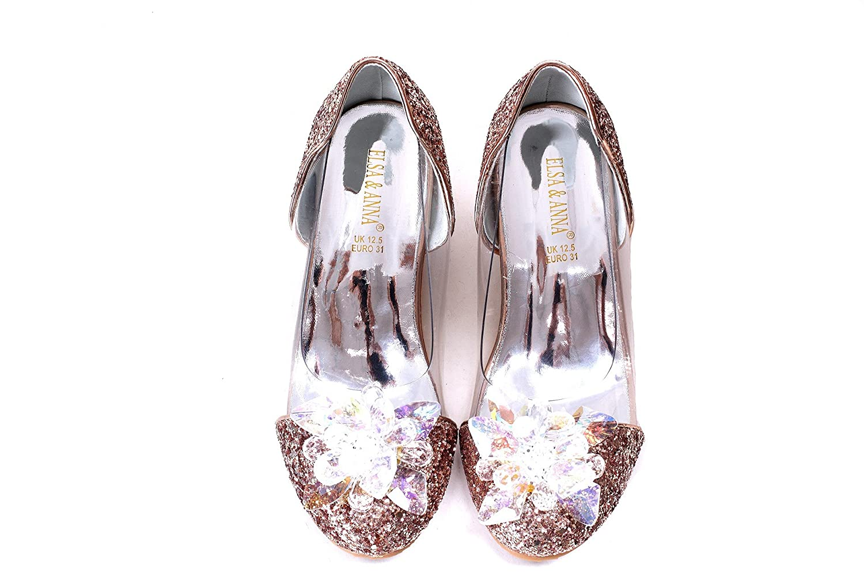 ELSA /& ANNA/® Ni/ñas /Última Dise/ño Princesa Reina de Nieve Partido Zapatos Zapatos de Fiesta Sandalias GLD13-SH