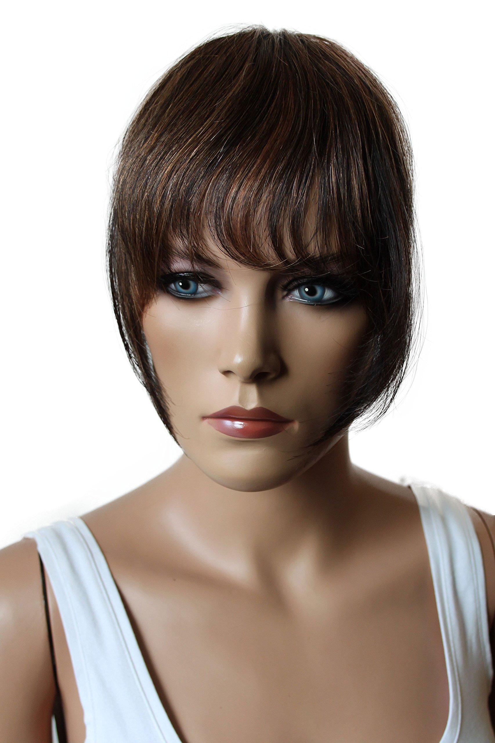 Amazon Rossynancy 4 Brazilian Human Hair Clip In Hair Bang