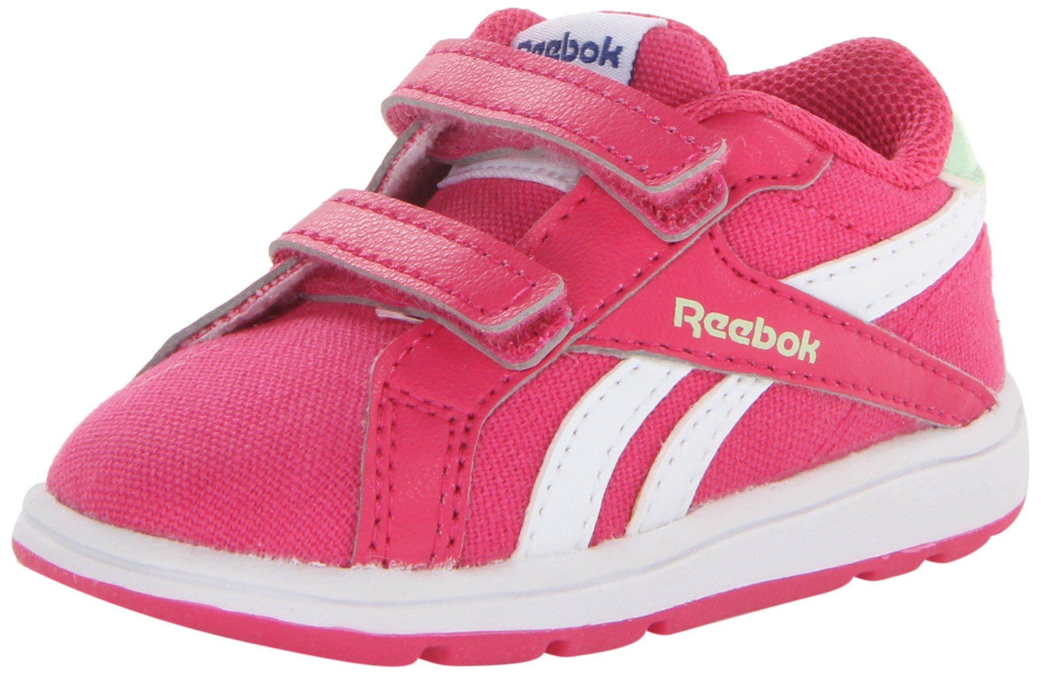 Reebok Royal Complete L2V Crosstrainer (Infant/Toddler),Pink Fusion/White/Sea Glass,7 M US Toddler