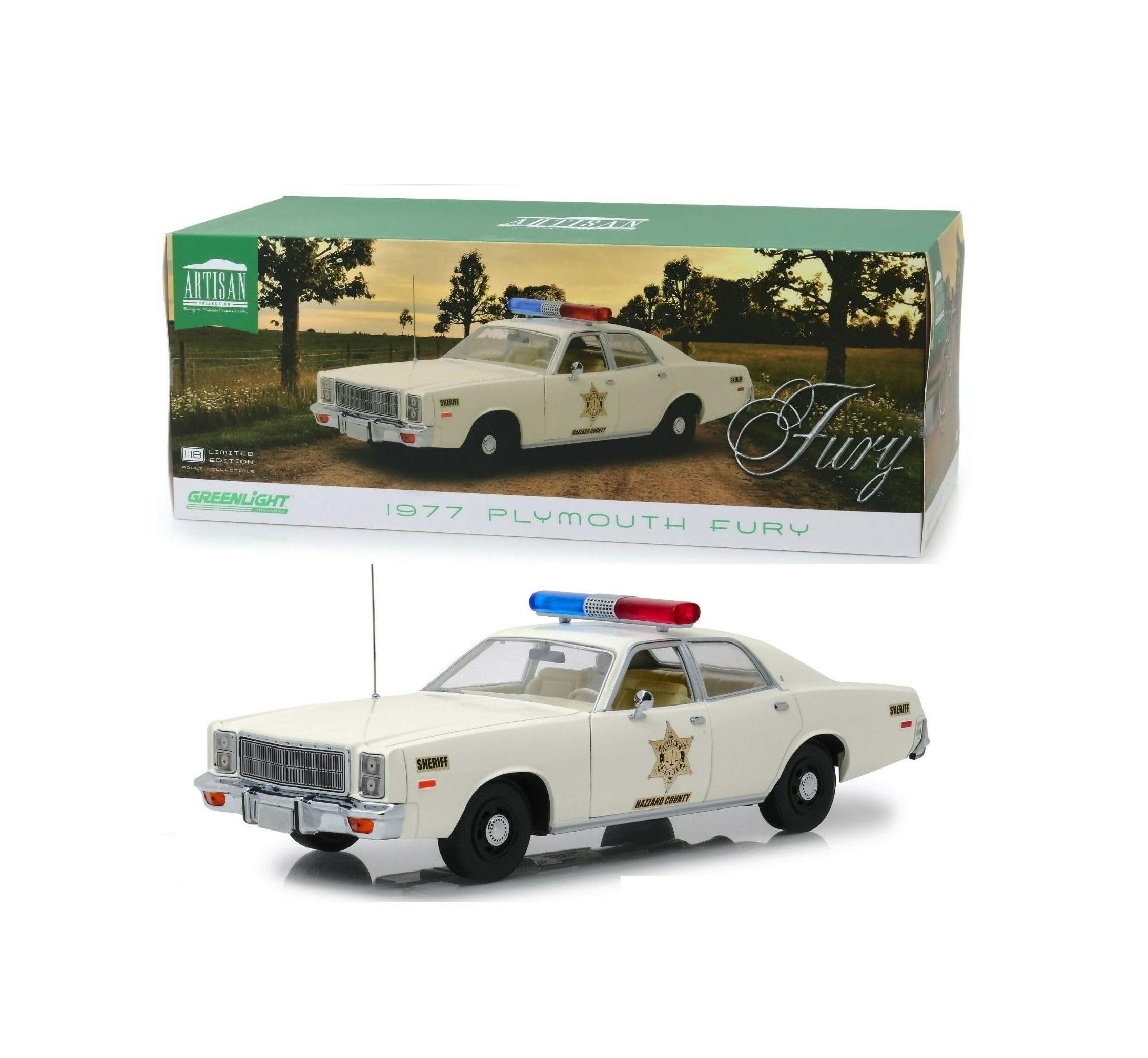 1:18 Love GiftDUKES of Hazard County Sheriff Roscoe's 1977 PlymouthNIB Rare Diecast Vehicle