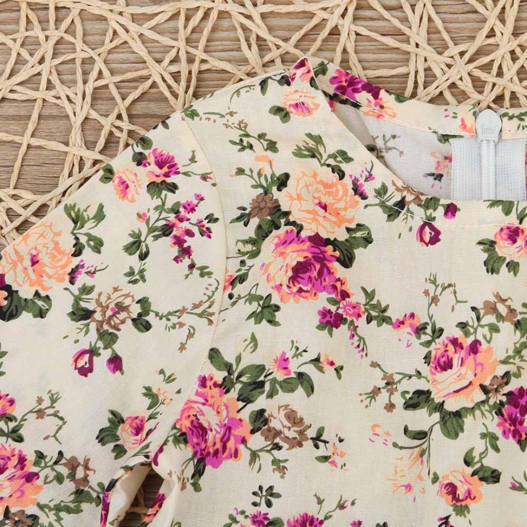 Amlaiworld Baby Kleid M/ädchen Niedlich Rosa drucken Langarm Kleider Kleinkind bunt Blumen Kleidung,1-6 Jahren