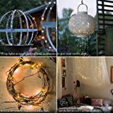 Binval Solar String Lights, 72ft 200Led, Copper