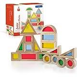 Guidecraft Jr. Rainbow Block 20 Piece Set